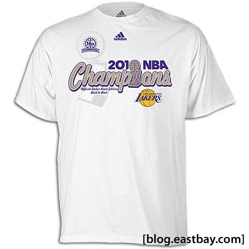 Los Angeles Lakers 2010 World Champions Tee Shirt