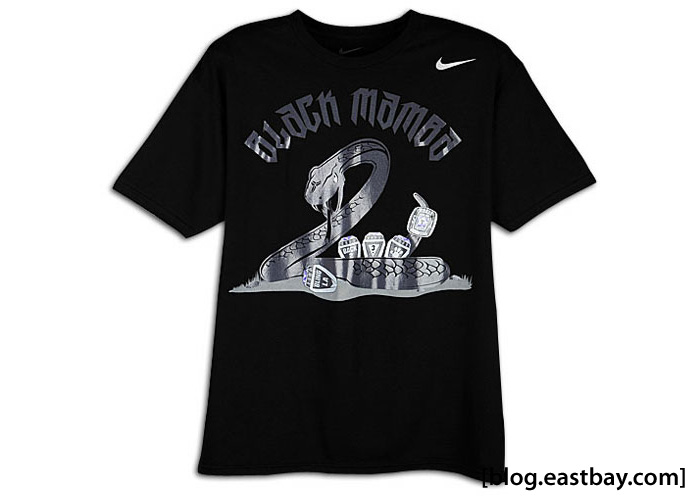 Nike Black Mamba Five Rings Kobe Bryant Tee Shirt