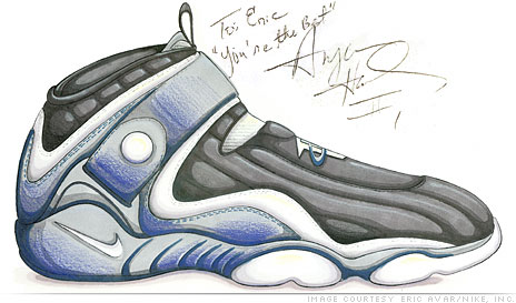 Interview With Penny Hardaway: Original Sketch of Penny IV