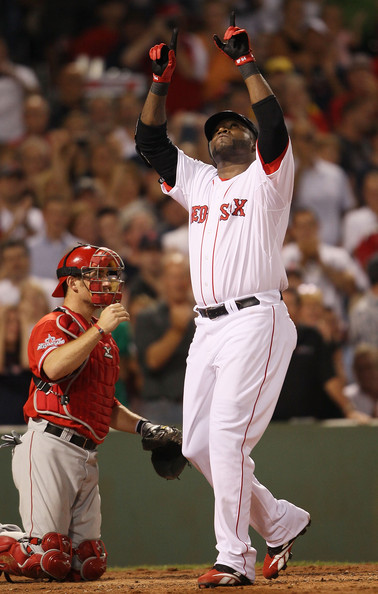 David Ortiz wearing his PE Reebok U-Form cleats.