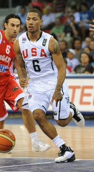 FIBA Team USA Beats Croatia Derrick Rose