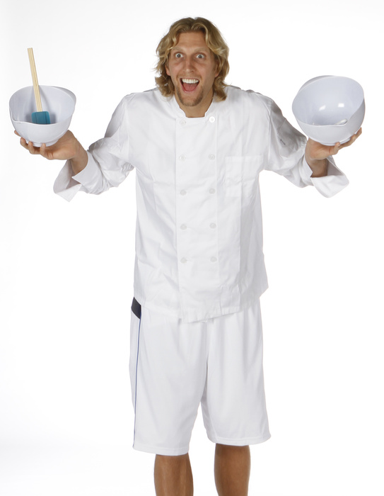 Dirk Nowitzki of the Dallas Mavericks is a chef?