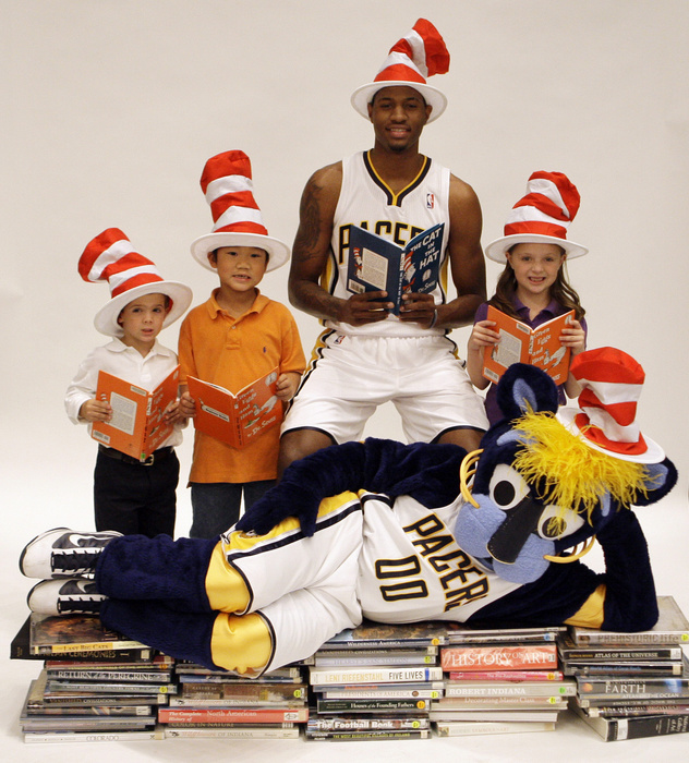 Paul George of the Indiana Pacers is a Cat in the Hat fan.