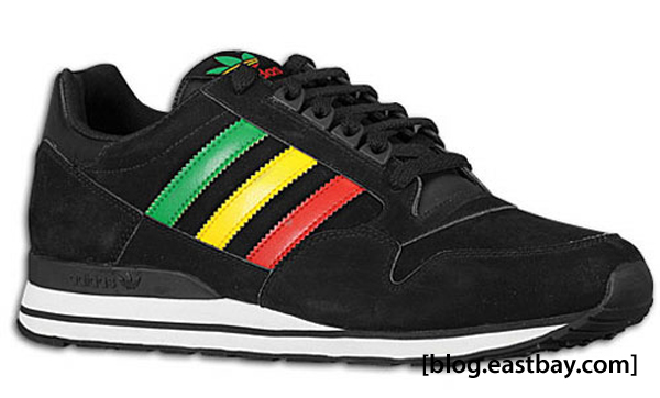 adidas Originals ZX 500 Black/Green/Yellow/Red
