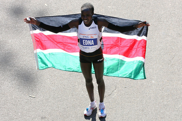 Edna Kiplagat of Kenya wins the Women's 2010 NYC Marathon.