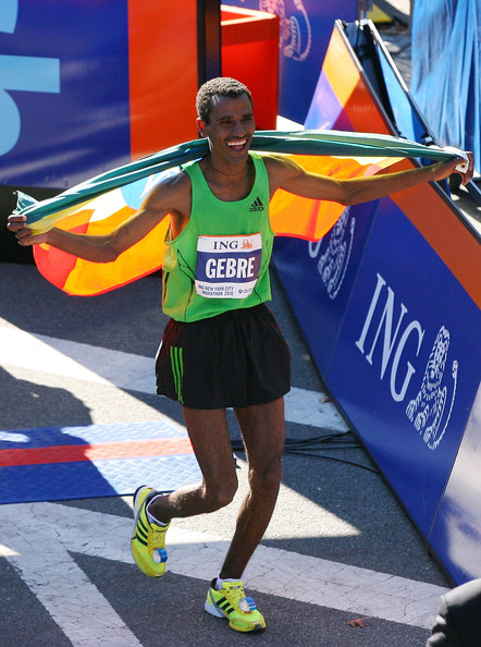 Gebre Gebremariam wins the Men's 2010 NYC Marathon.