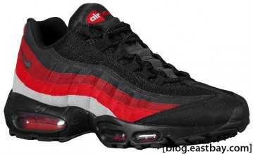 Nike Air Max 95 Black Black Neutral Grey Varsity Red Team Red Dark Charcoal 609048-035