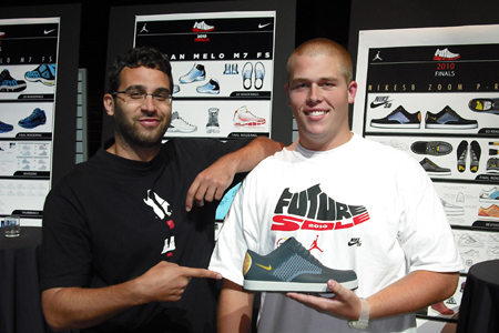Nike designer Jason Petrie and PRod 5 Future Sole winner Josh Mann