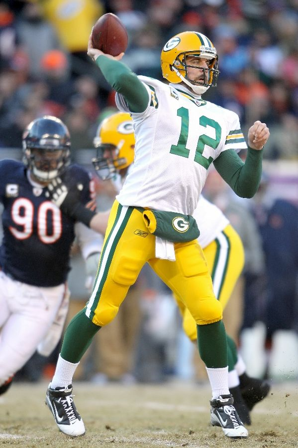 Aaron Rodgers wearing the Nike Air LT Superbad