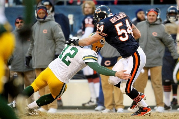 Brian Urlacher wearing the Nike Air Zoom Merciless