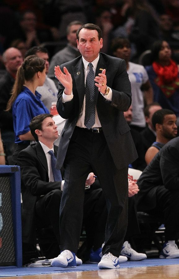 Coach K wearing the Nike Zoom Hyperfuse Low