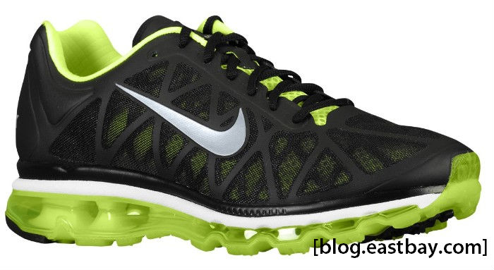 Nike Air Max+ 2011 Black Metallic Cool Grey Volt 429889-007