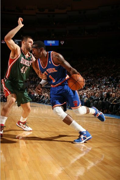 Amar'e Stoudemire in the Nike Zoom Huarache Trainer.