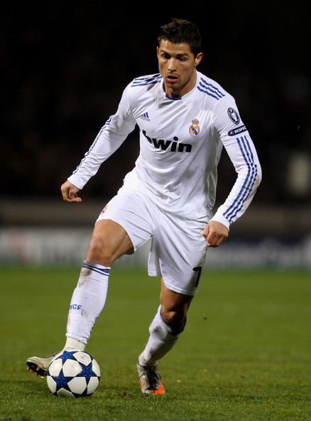 Cristiano controls the ball in his signature Nike Mercurial soccer cleats.