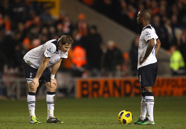 Tottenham Hotspur players Roman Pavlyuchenko and Jermain Defoe wearing the adidas F50 adiZero.