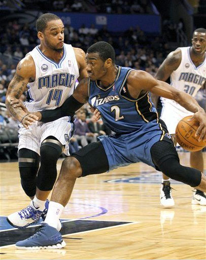 John Wall drives to the basket in the Reebok Zig Slash.