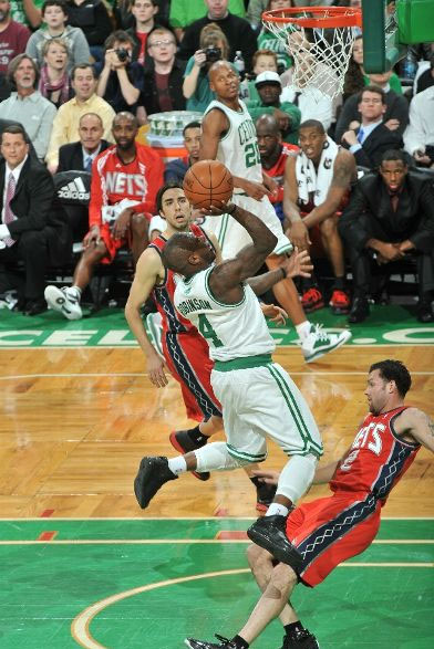 Nate Robinson in the Nike Air Max Lebron VIII.