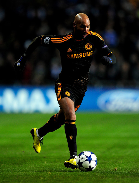 Nicolas Aneika of Chelsea controls the ball wearing the adidas F50 adiZero.