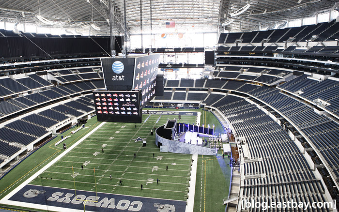 Dallas Cowboys Stadium - View from the Dr. Pepper Star Bar.