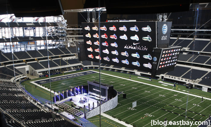 Dallas Cowboys Stadium - View from the press box.
