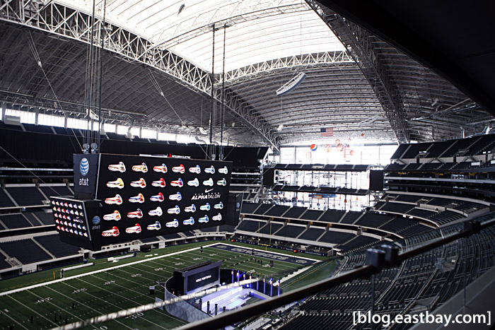 Dallas Cowboys Stadium - View from the luxury suites.
