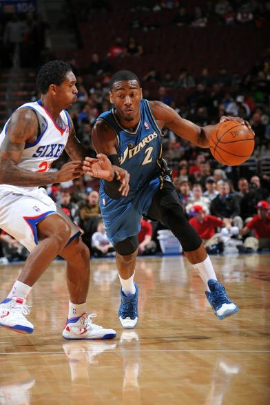 John Wall wearing the Reebok Question PE again.