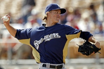 Zack Greinke of the Milwaukee Brewers