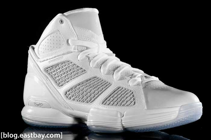adidas adiZero Rose 1.5 White/Light Grey Lateral