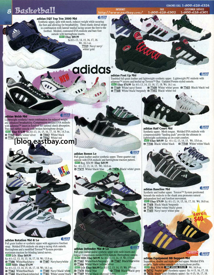 Eastbay Memory Lane: adidas Basketball 1996