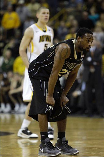Lewis Jackson of Purdue in the Nike Air Max LeBron VIII.