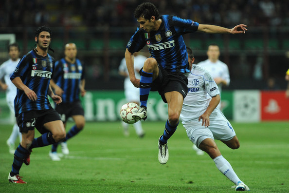 Andrea Rannocchia of Inter Milan wearing the Lotto Fuerzapura.