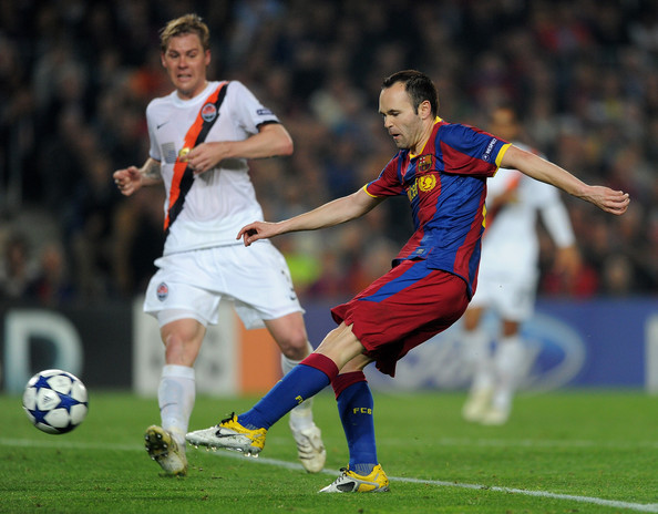 Andres Iniesta of Barcelona in the Nike CTR 360.