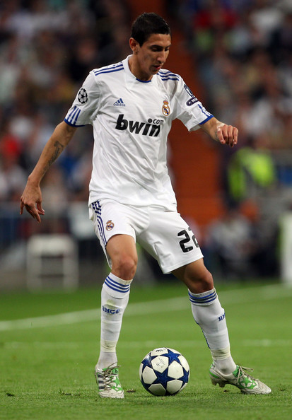 Angel Di Maria of Real Madrid in the adidas Predator X.
