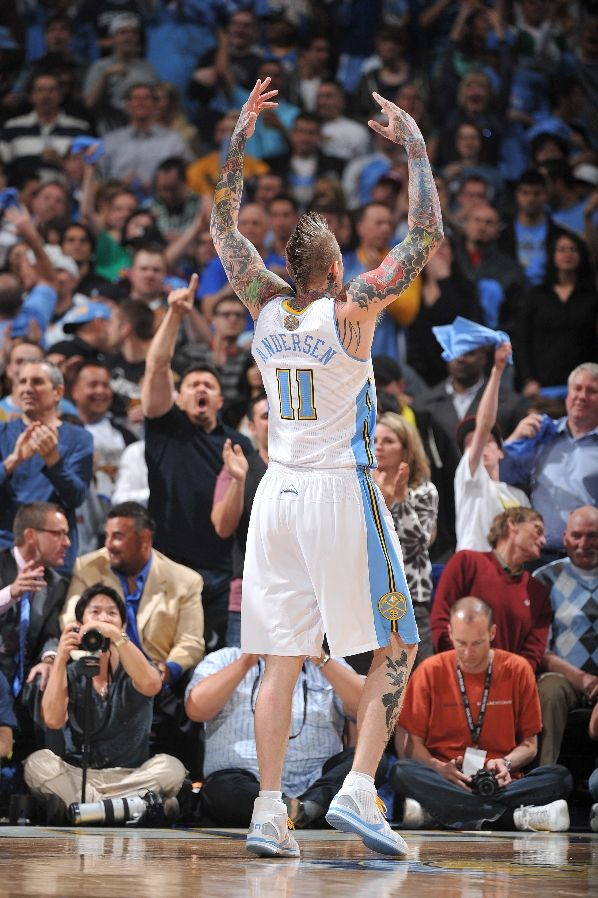Chris Anderson wearing the Converse Star Player EVO