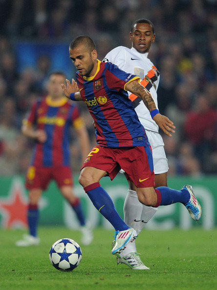 Daniel Alves in the Lightning White colorway of the adiZero F50.