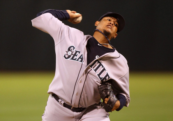 Felix Hernandez is already off to a Cy Young winning start with his Phiten necklace.