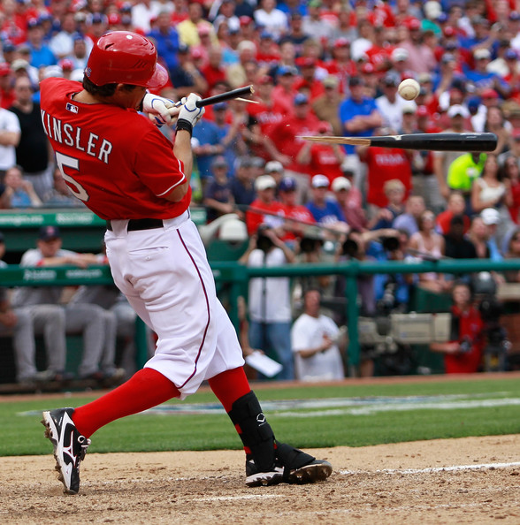 Ian Kinsler has helped the Rangers to an undefeated start in his PE Mizuno 9-Spikes.