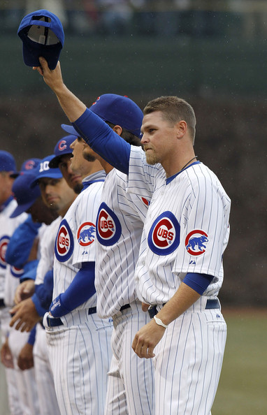 Kerry Wood got a warm welcome returning to Chicago with his Power Balance bracelet.