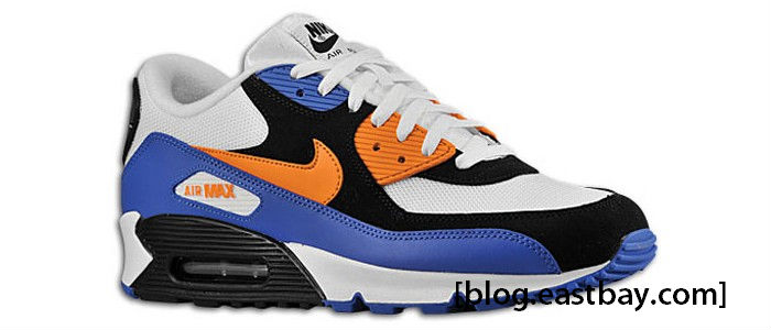 Nike Air Max 90 White Bright Mandarin Orange Black 309299-127