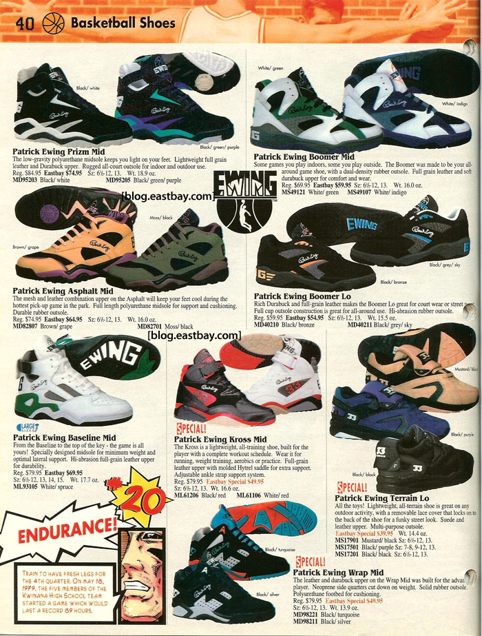 Patrick Ewing Brand Shoes - Eastbay Memory Lane
