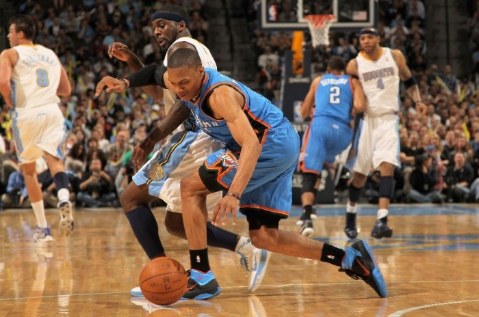 Russell Westbrook & Ty Lawson wearing the Nike Zoom Hyperfuse