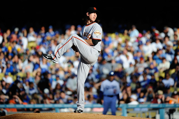 Tim Lincecum still testing cleats, started the season with Mizuno 9-Spikes.