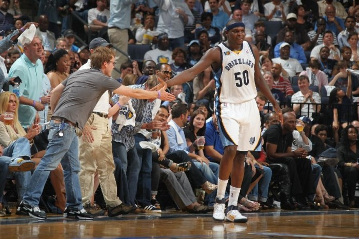 Zach Randolph wearing the Nike Air Max Fly By