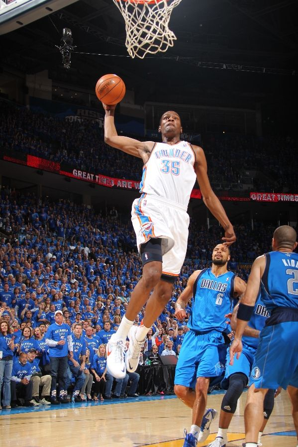 """Another look at Durant's """"Scoring Title"""" KD III in the home colorway."""