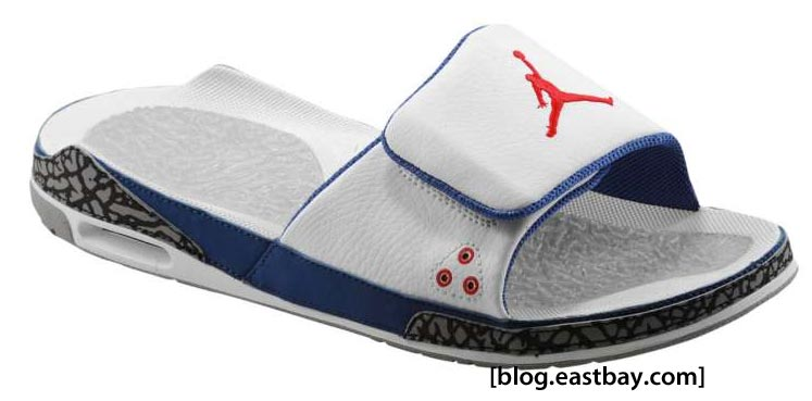 details for official images latest discount Jordan Retro 3 Slide True Blue | Eastbay Blog : Eastbay Blog