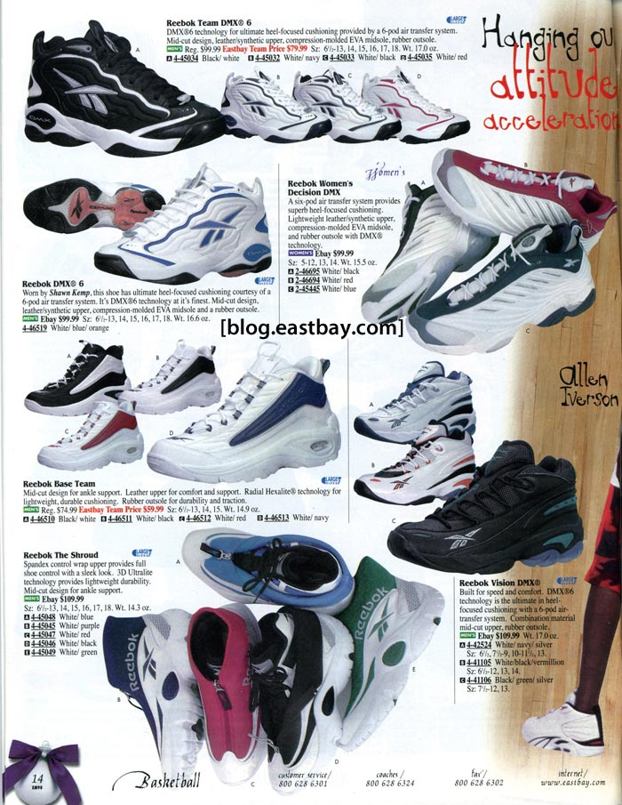 Reebok Basketball 1998 Eastbay Memory Lane