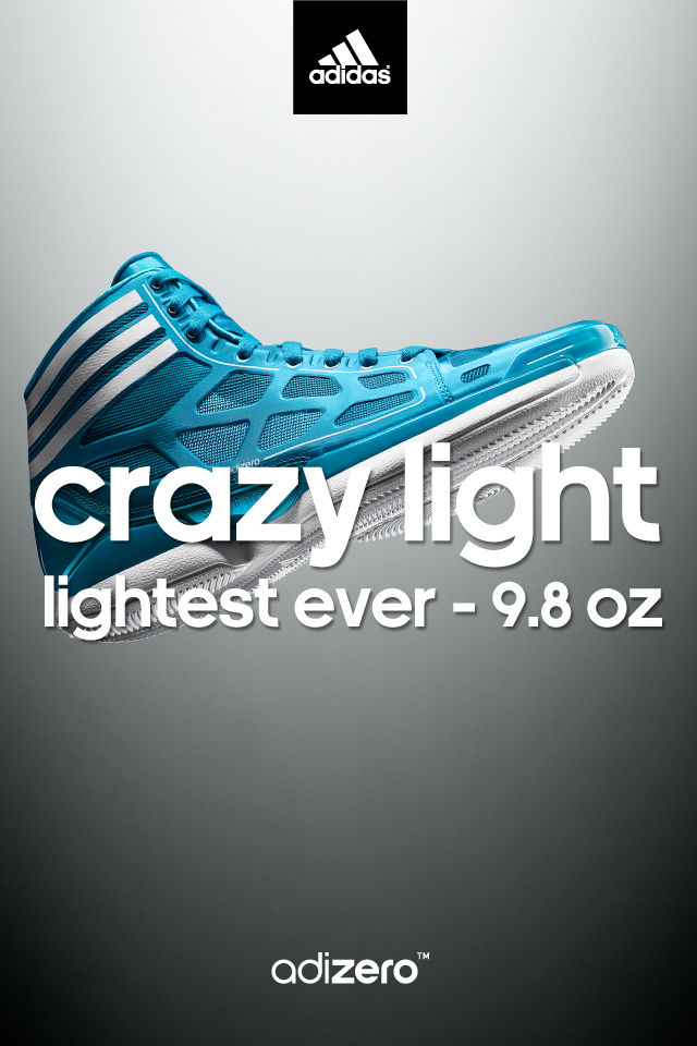 adidas adiZero Crazy Light Wallpaper Blue/White 640 x 960