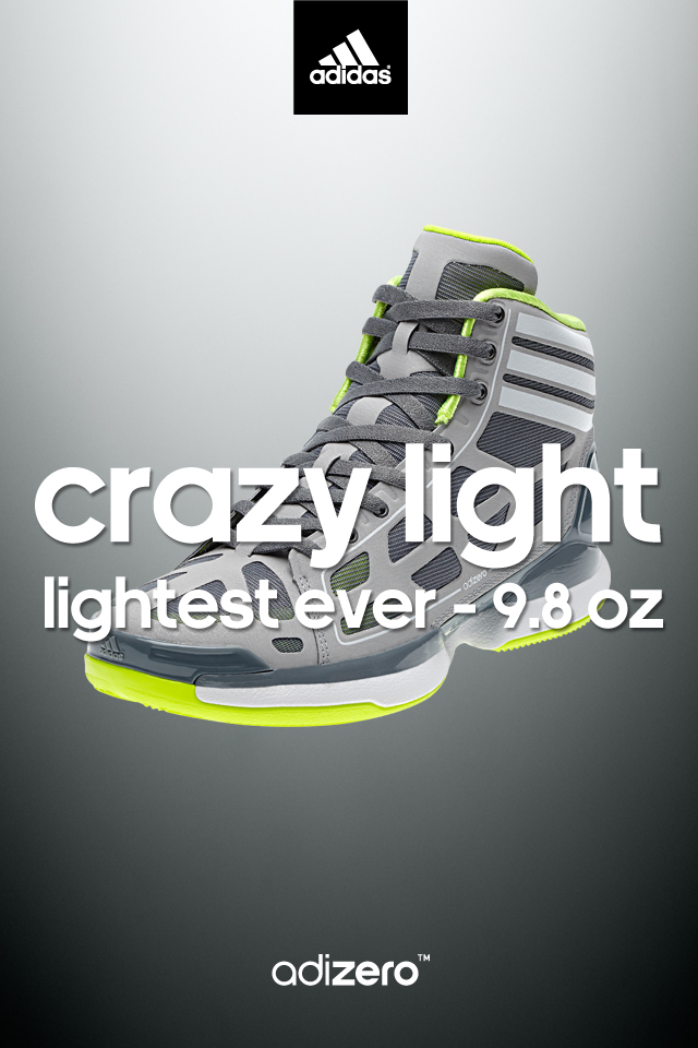 adidas adiZero Crazy Light Wallpaper Lead Grey/Electricity 640 x 960