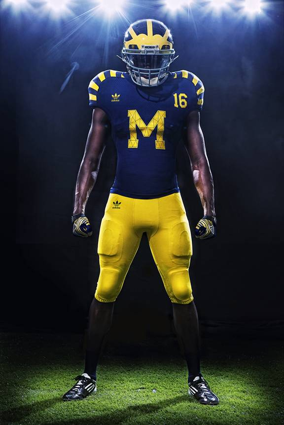 "adidas Unveils Michigan ""Under The Lights"" Game Uniforms"