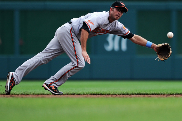 J.J. Hardy of the Orioles wearing some PE New Balance cleats.